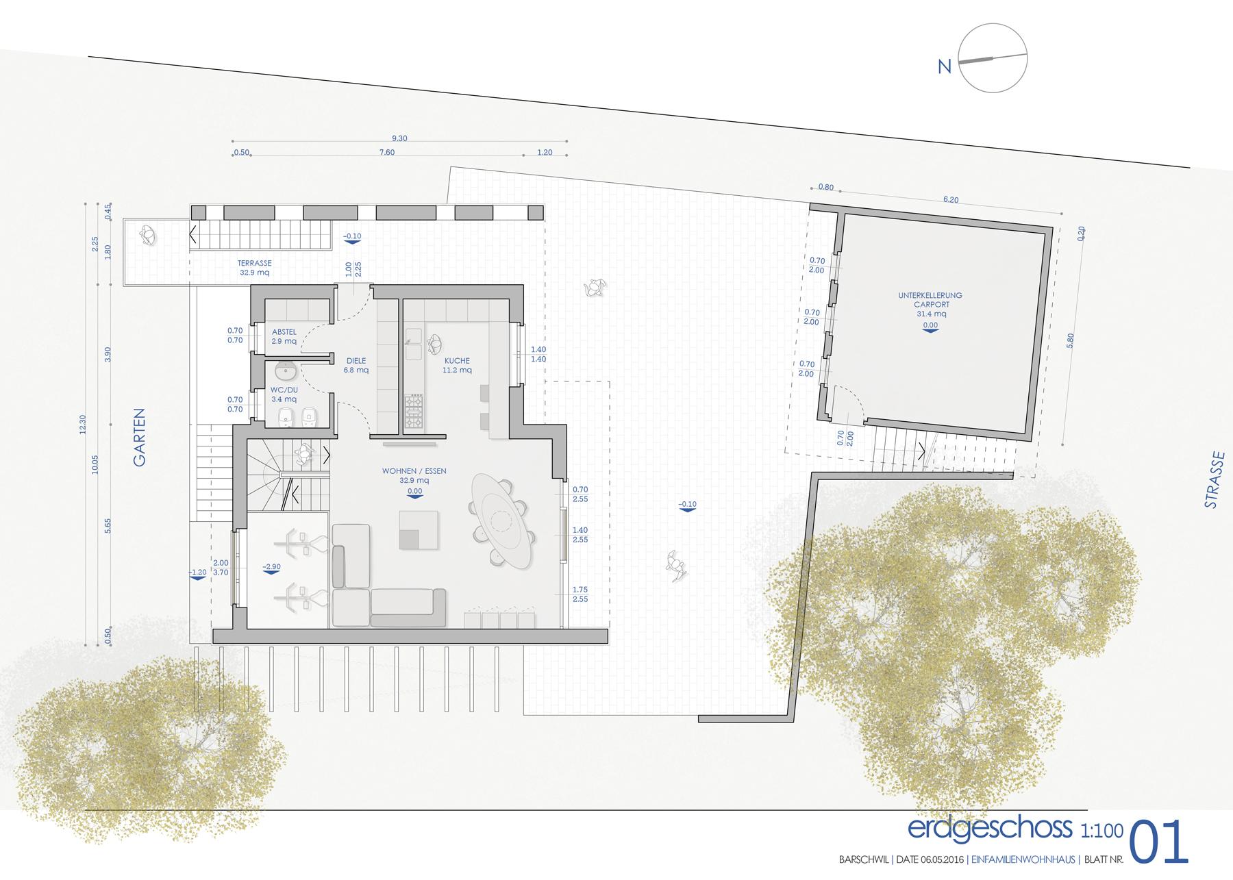Nuova villa unifamiliare b rschwil ch architettura for Progetto villa moderna nuova costruzione